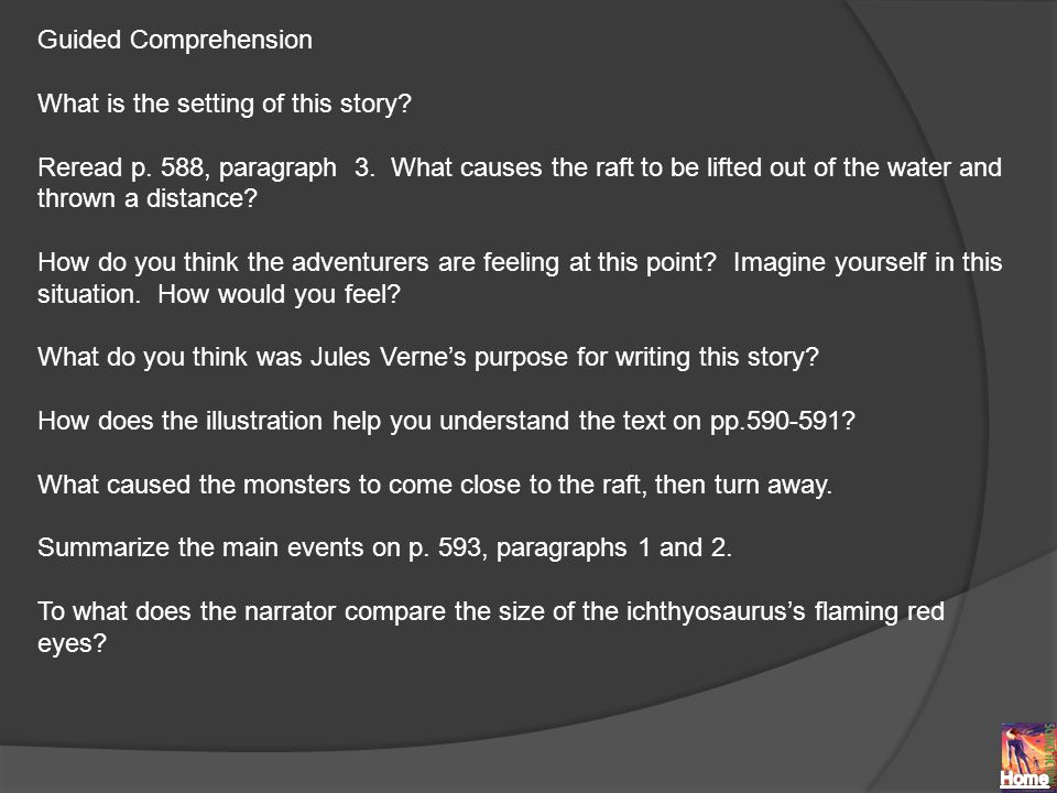 Guided Comprehension What is the setting of this story.