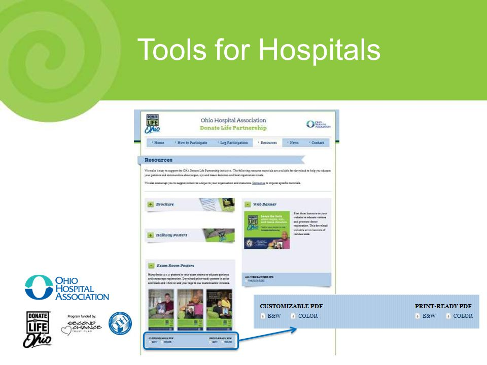 Tools for Hospitals