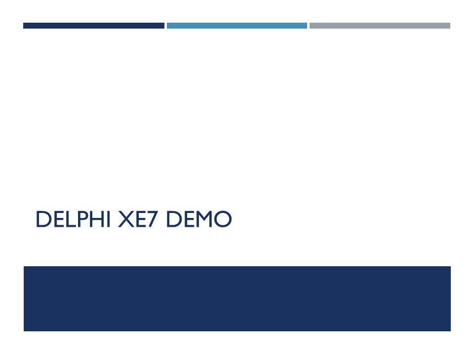 DELPHI XE7 DEMO