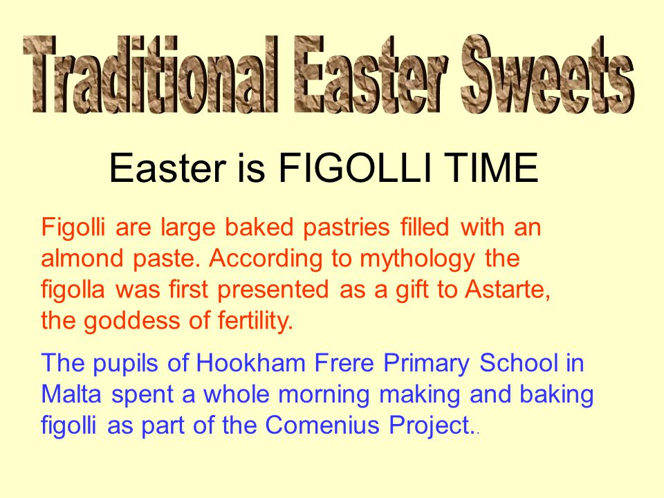 Easter is FIGOLLI TIME Figolli are large baked pastries filled with an almond paste.
