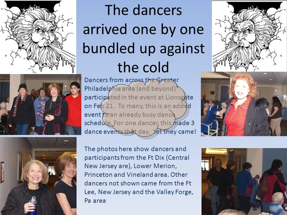 The Lions gate complex showed the effect of Winter'10 when the Cherry Hill Israeli dancers arrived for two performances on Feb 21 This powerpoint presentation is the work of Marc Rauer to be used in his CIS 103 classes at Community College Of Phila.
