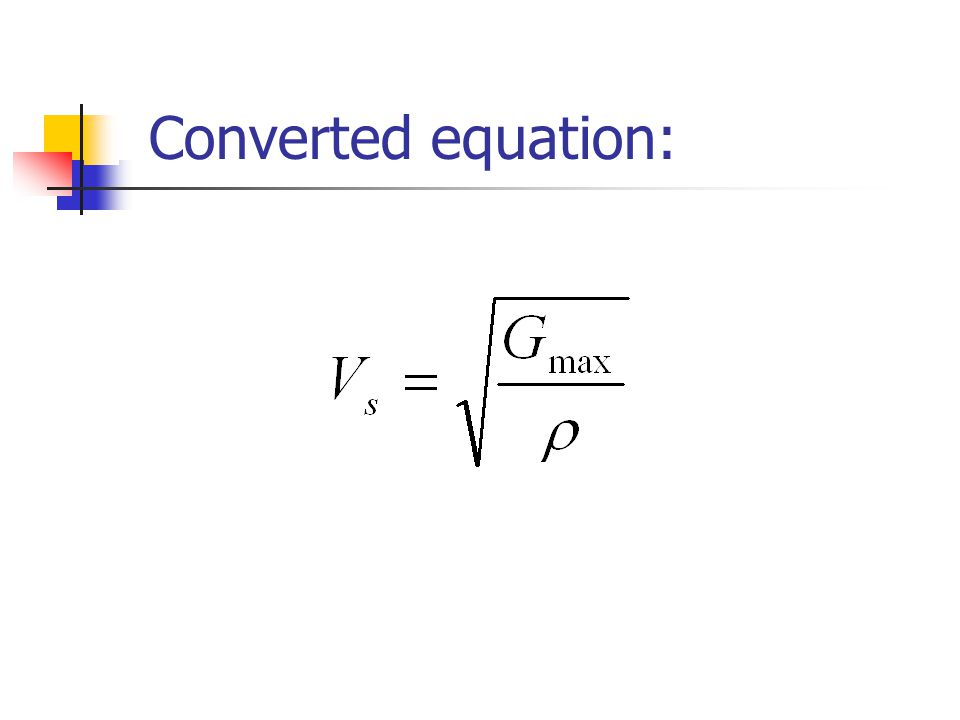 Converted equation:
