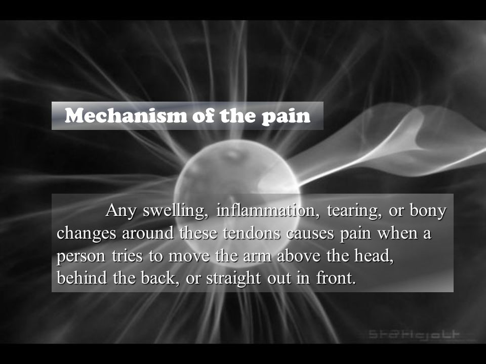 Reasons beyond that pain Because of its high level of mobility, the shoulder has heavy reliance on the muscles around the shoulder to act as dynamic stabilisers during movement of the arm.