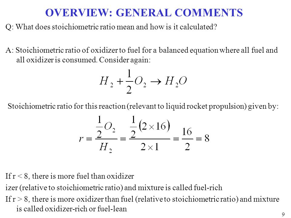EXAMPLE CEA CALCULATION: H 2 -O 2 COMBUSTION Fuel Rich Fuel Lean 20