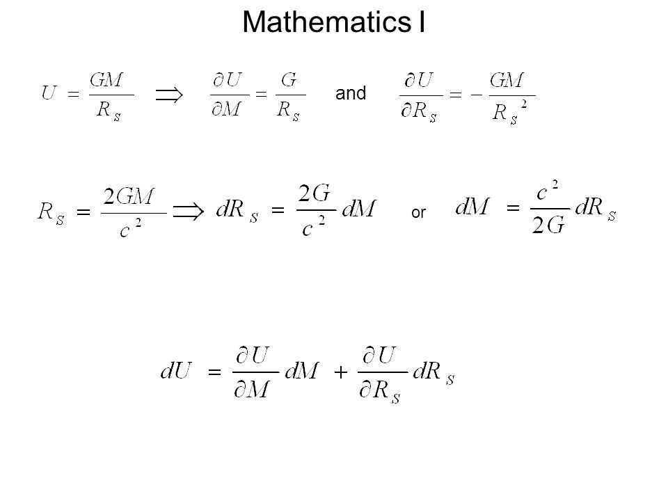 and or Mathematics I