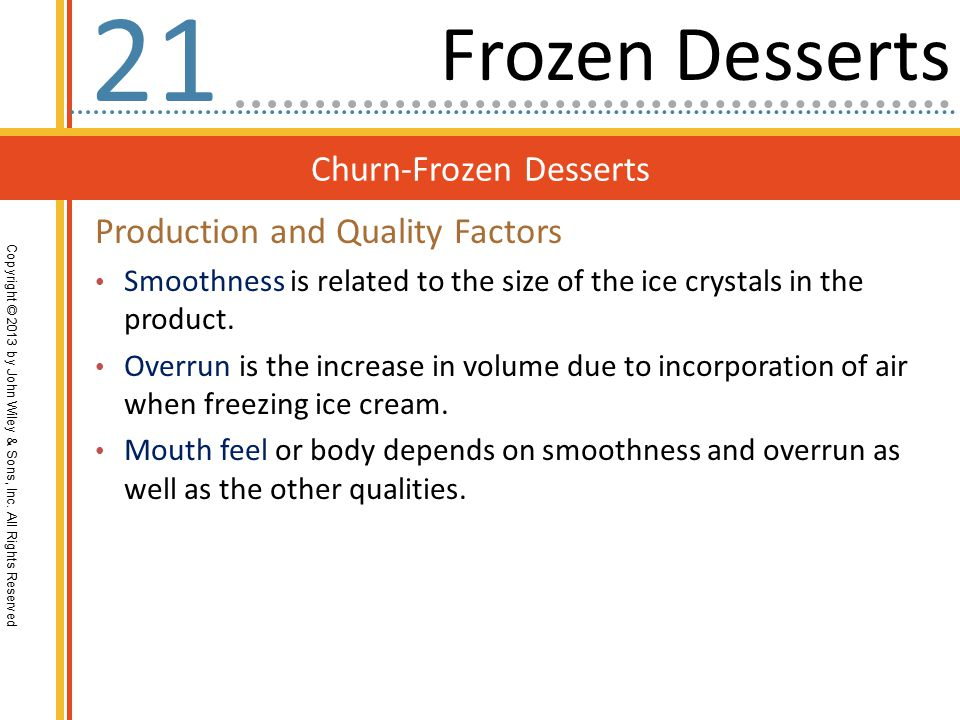 Churn-Frozen Desserts Copyright © 2013 by John Wiley & Sons, Inc.