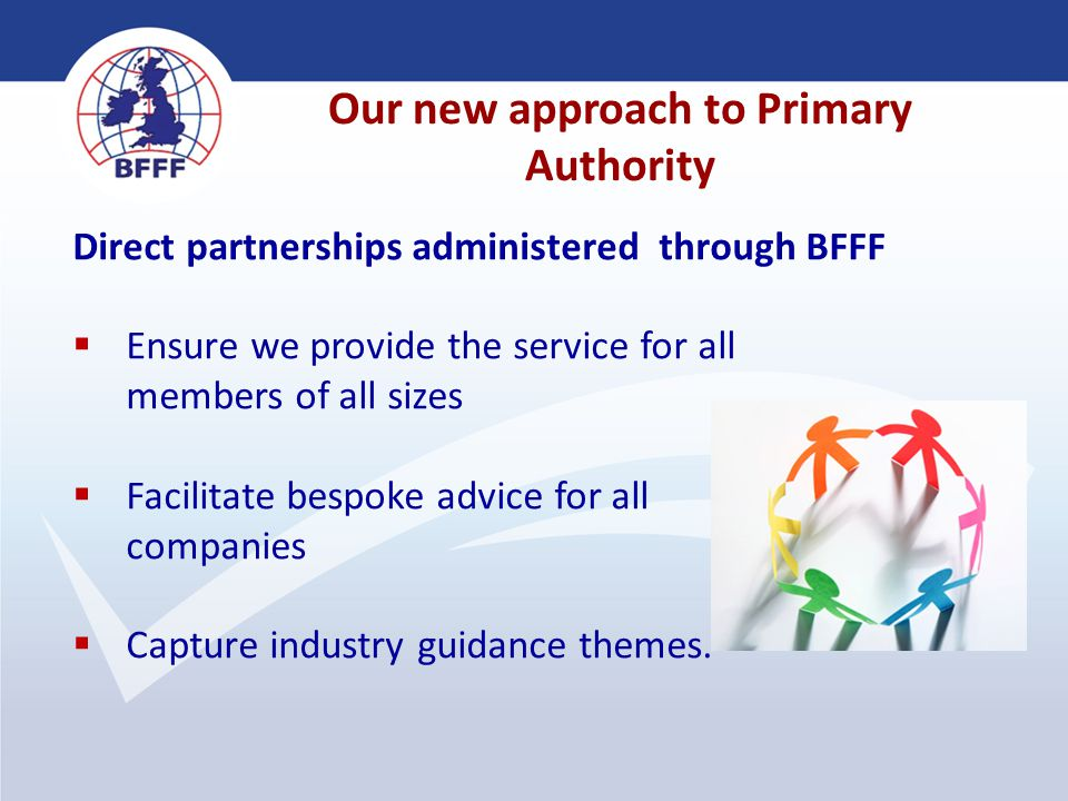 4 Direct partnerships administered through BFFF  Ensure we provide the service for all members of all sizes  Facilitate bespoke advice for all compa