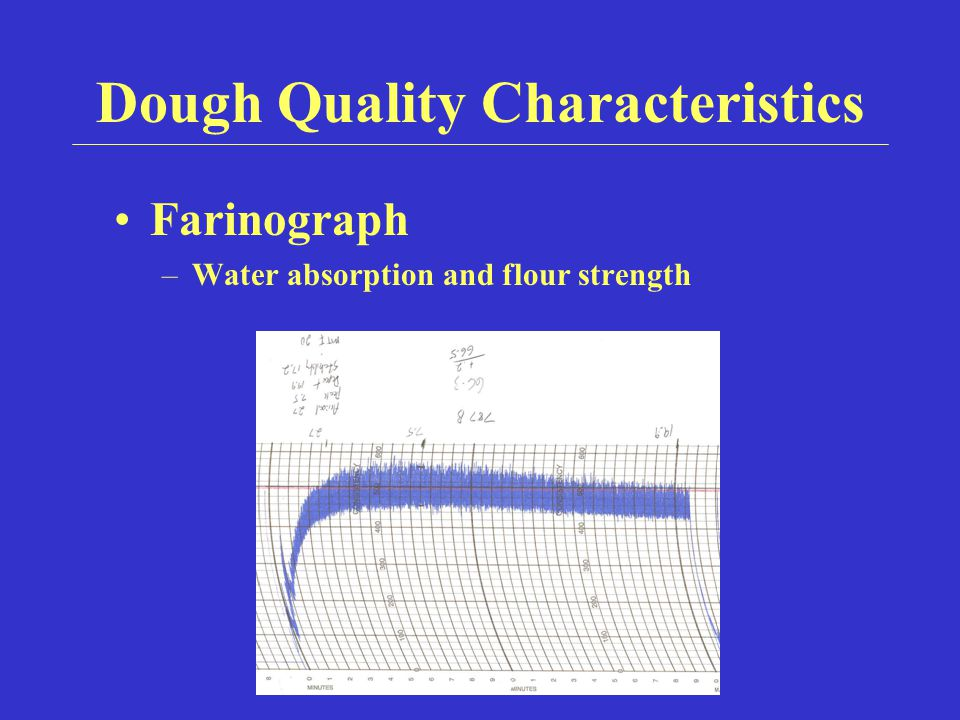 Dough Quality Characteristics Farinograph –Water absorption and flour strength