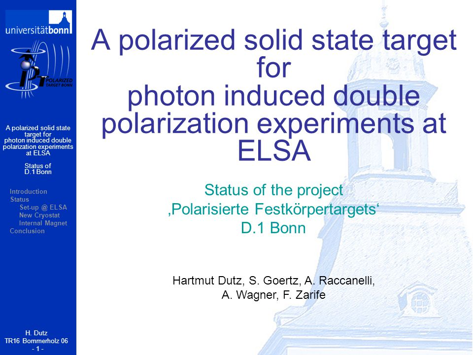 A polarized solid state target for photon induced double polarization experiments at ELSA H.