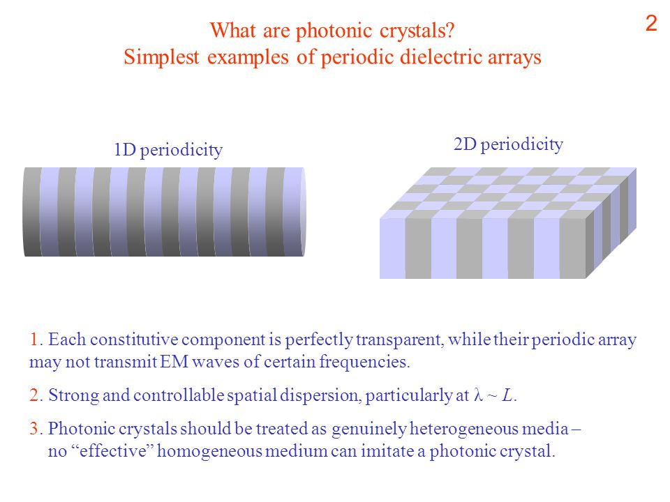 2 What are photonic crystals.