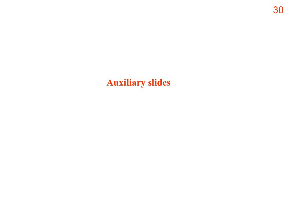 30 Auxiliary slides