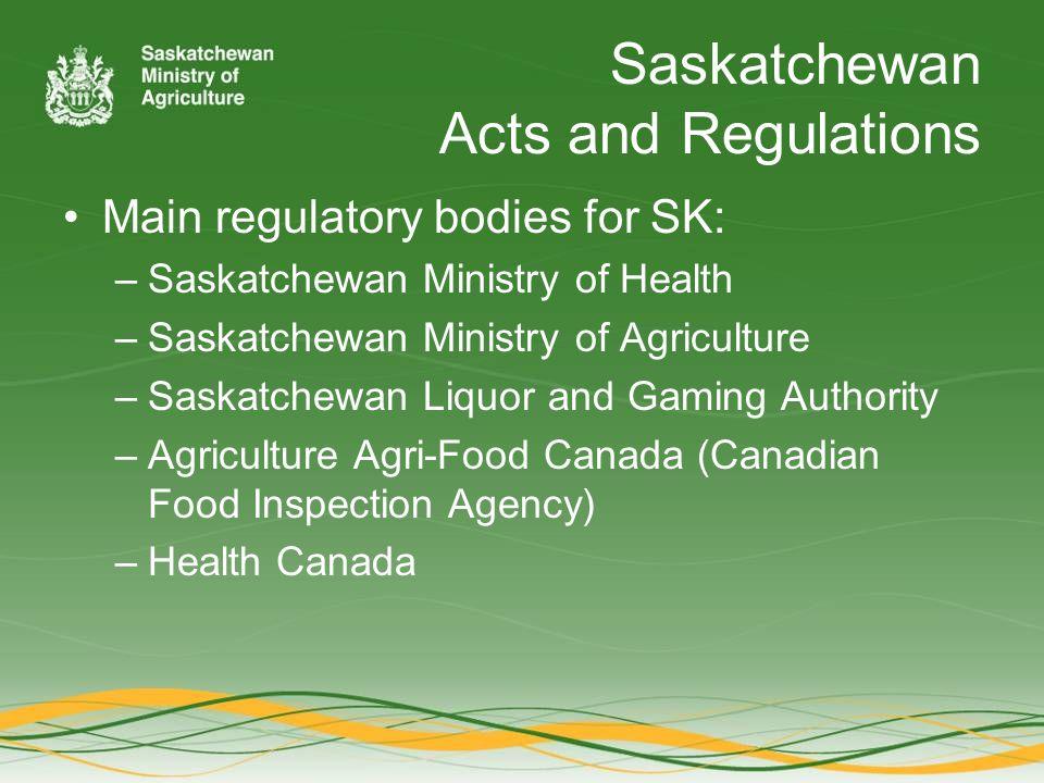 Fruit and Vegetables Farm gate Farmer's Market Provincial regulations Federally regulations