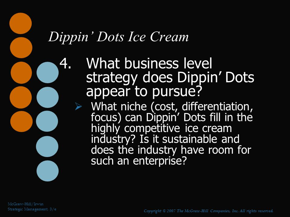 Dippin' Dots Ice Cream 5.What opportunities for growth should Dippin' Dots pursue.