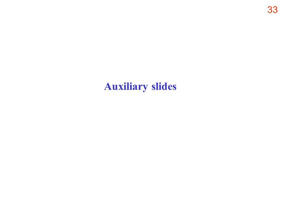 33 Auxiliary slides