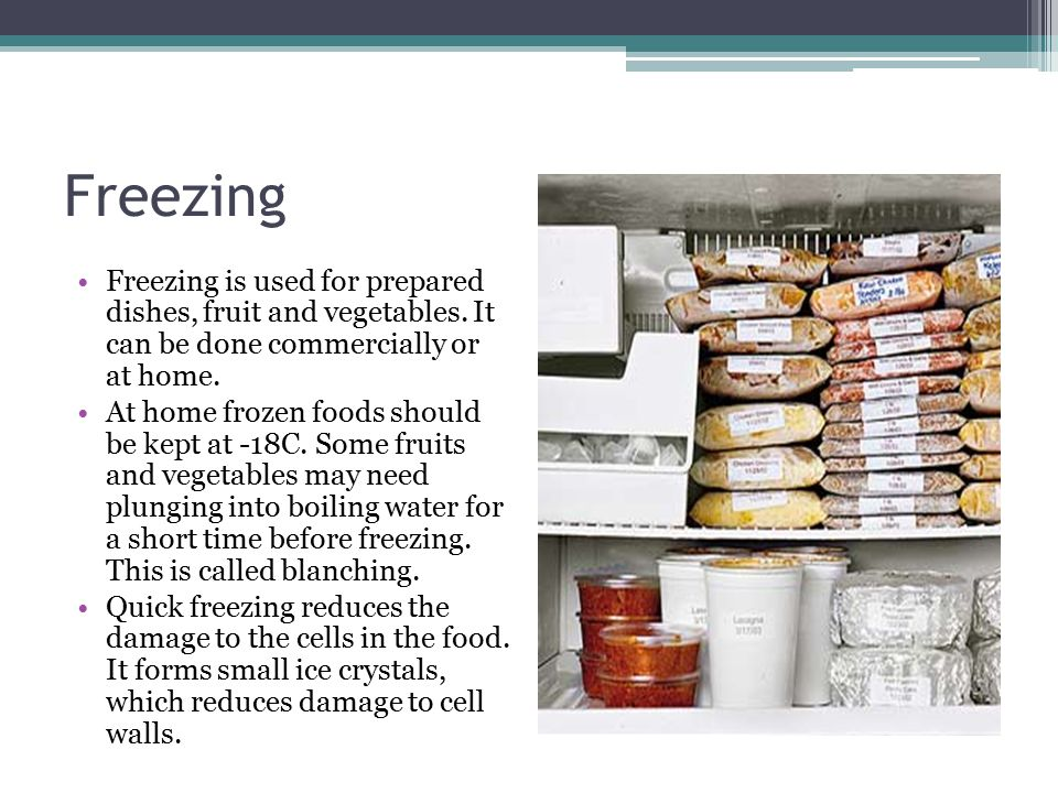 Chillers and freezers To maintain the temperature of chillers and freezers Regularly monitor the temperature with a probe or by data logging Record the temperature and store for evidence.