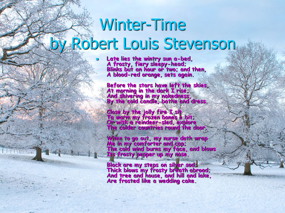 What could YOU personify winter as.