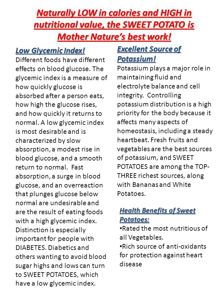 Low Glycemic Index. Different foods have different effects on blood glucose.