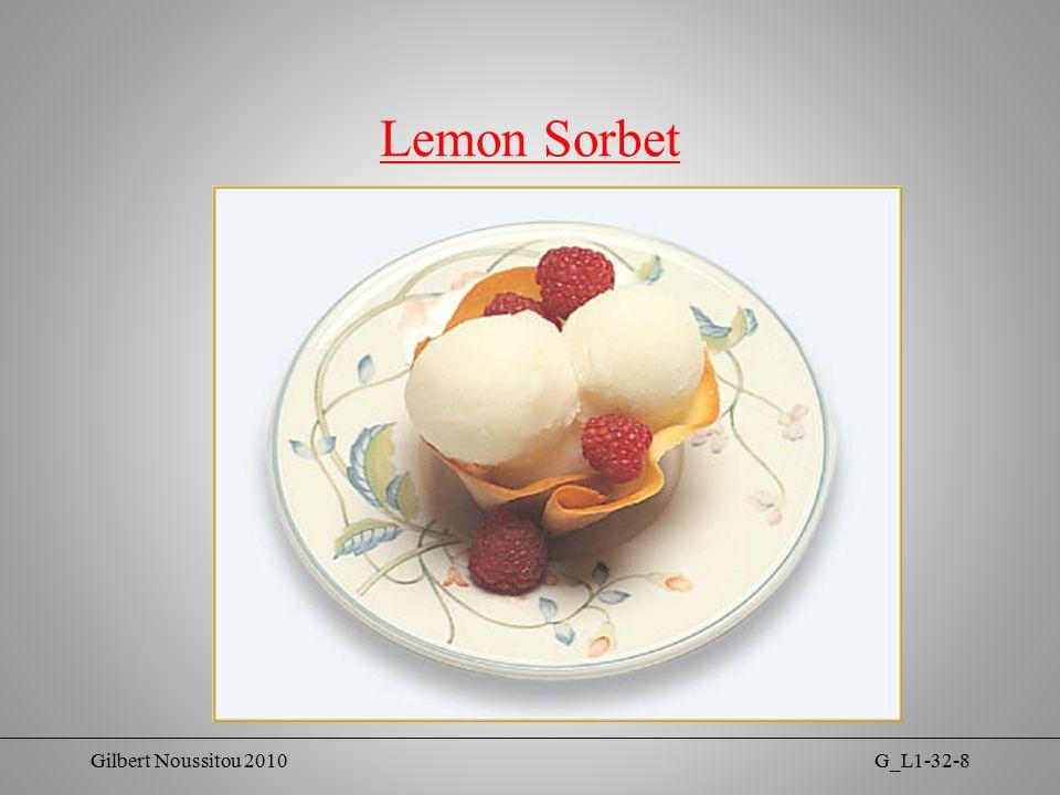 Gilbert Noussitou 2010G_L1-32-8 Lemon Sorbet