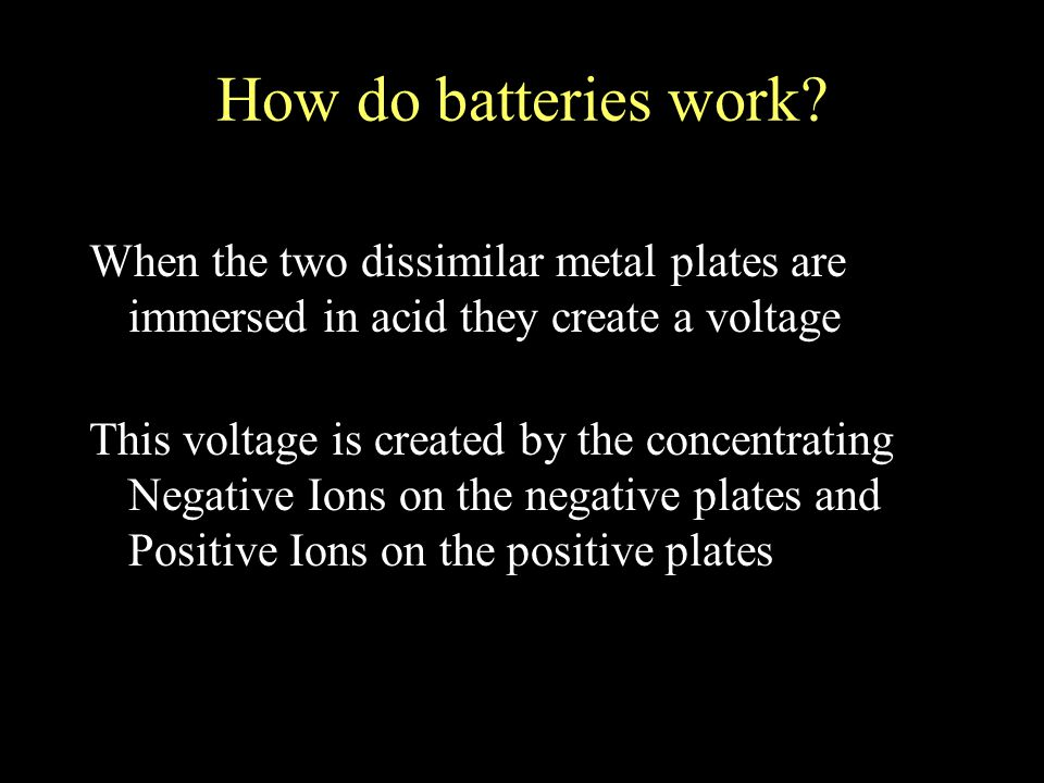 How do batteries work.