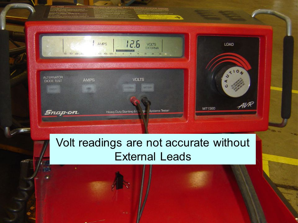 Volt readings are not accurate without External Leads