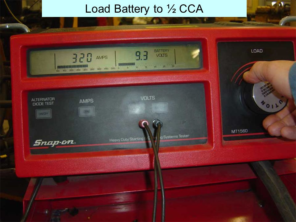 Load Battery to ½ CCA