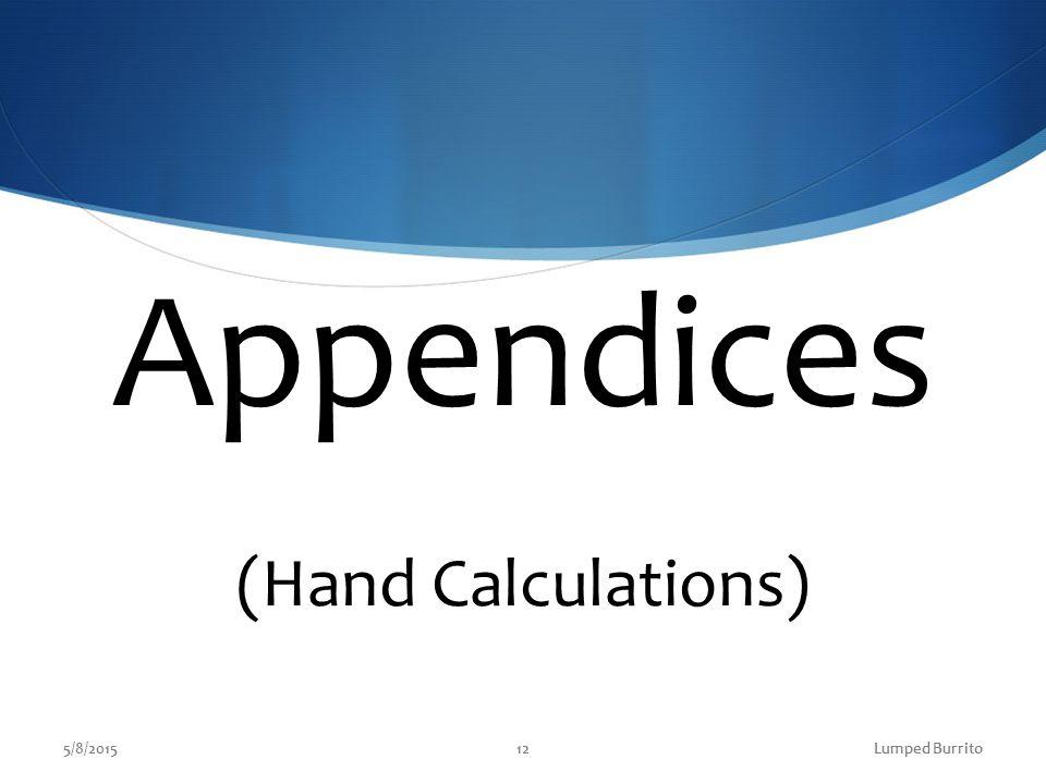 Appendices (Hand Calculations) 5/8/2015Lumped Burrito12