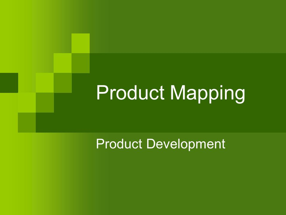 Product Mapping Product Development