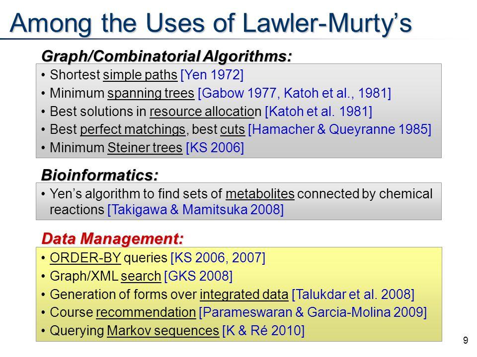10 Lawler-Murty's Method: Conceptual start