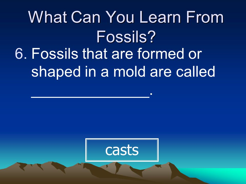 What Other Clues Do Fossils Provide.