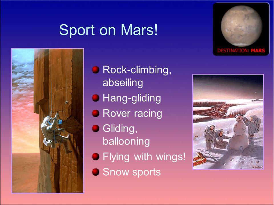 Sport on Mars.