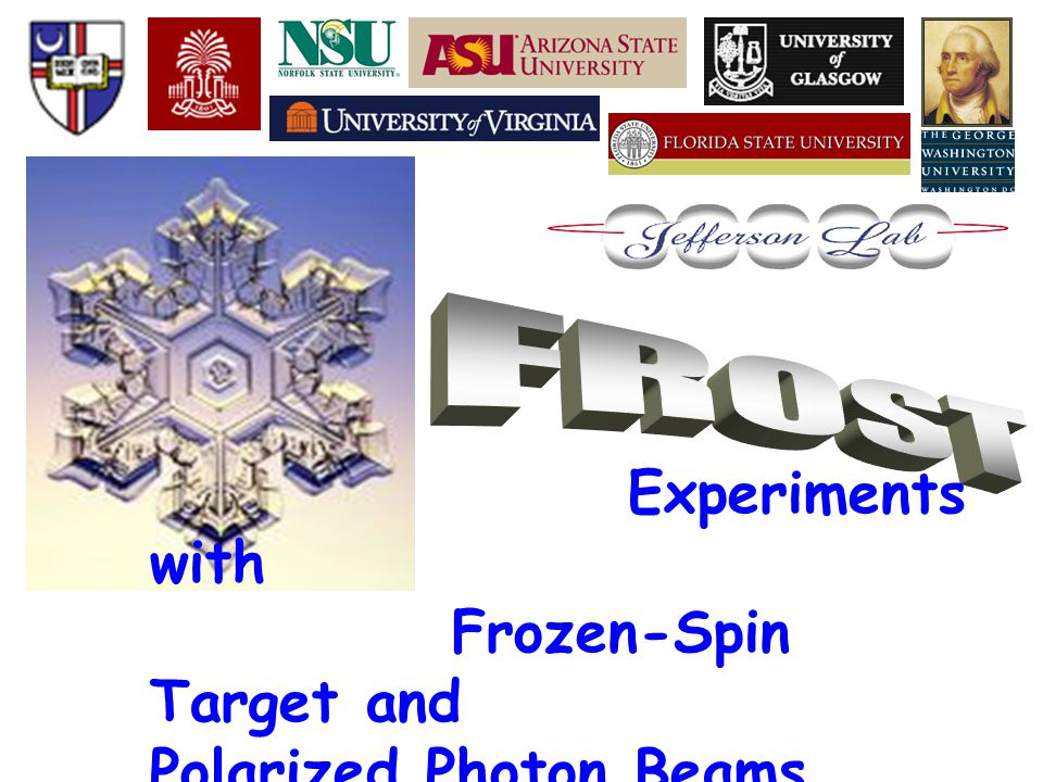 Experiments with Frozen-Spin Target and Polarized Photon Beams