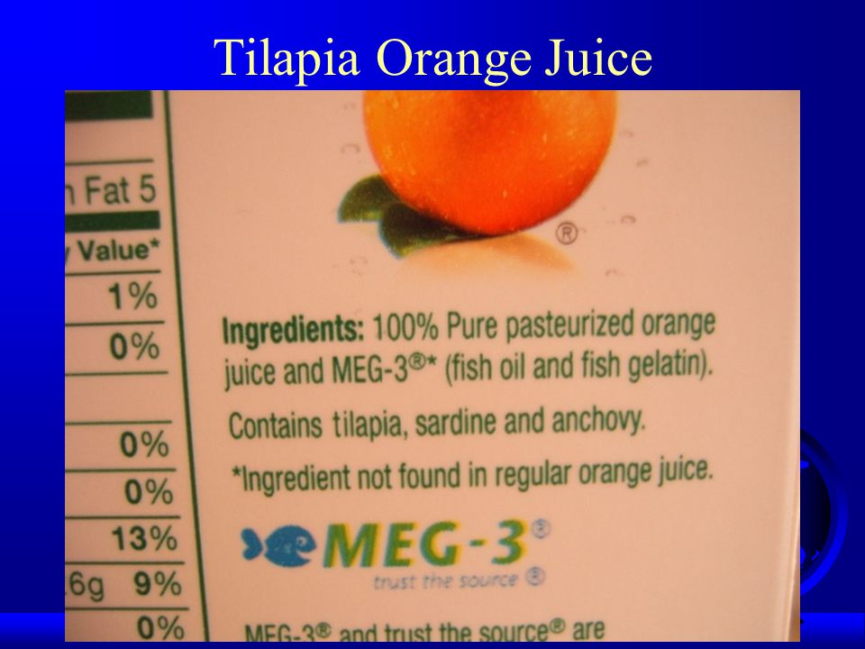 Tilapia Orange Juice