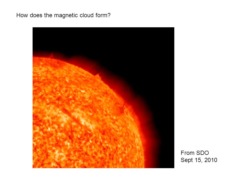 How does the magnetic cloud form? From SDO Sept 15, 2010