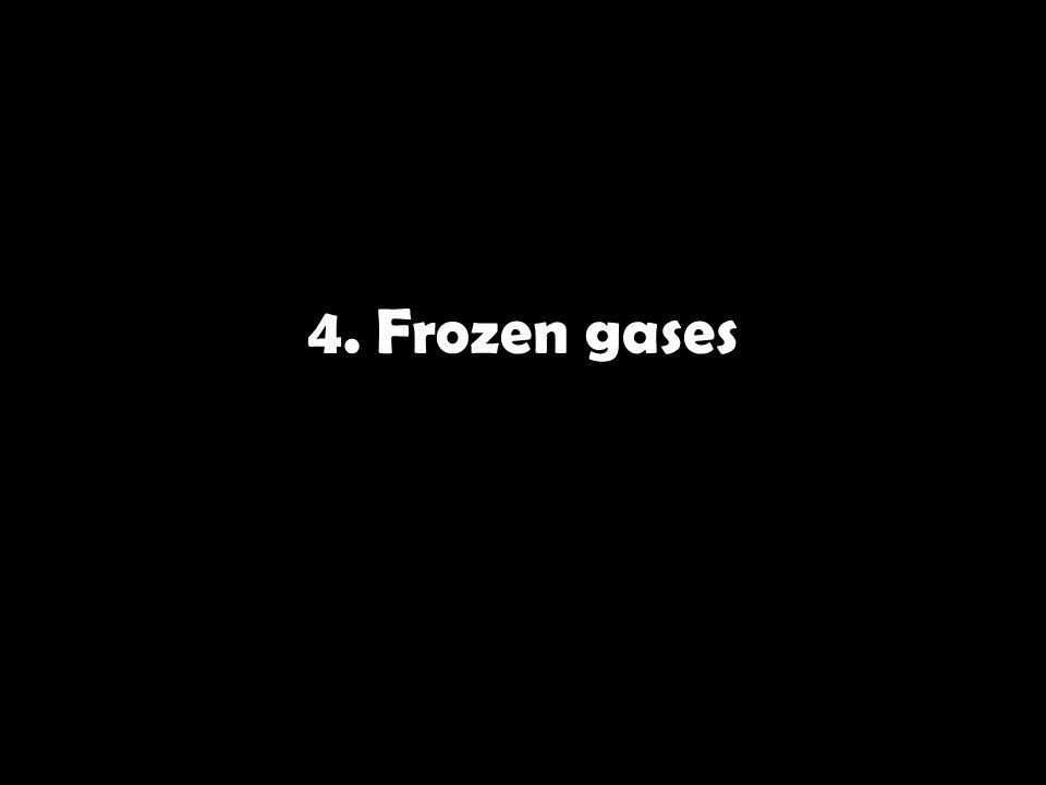4. Frozen gases