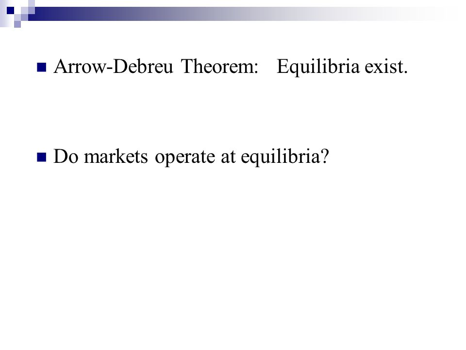 Do markets operate at equilibria