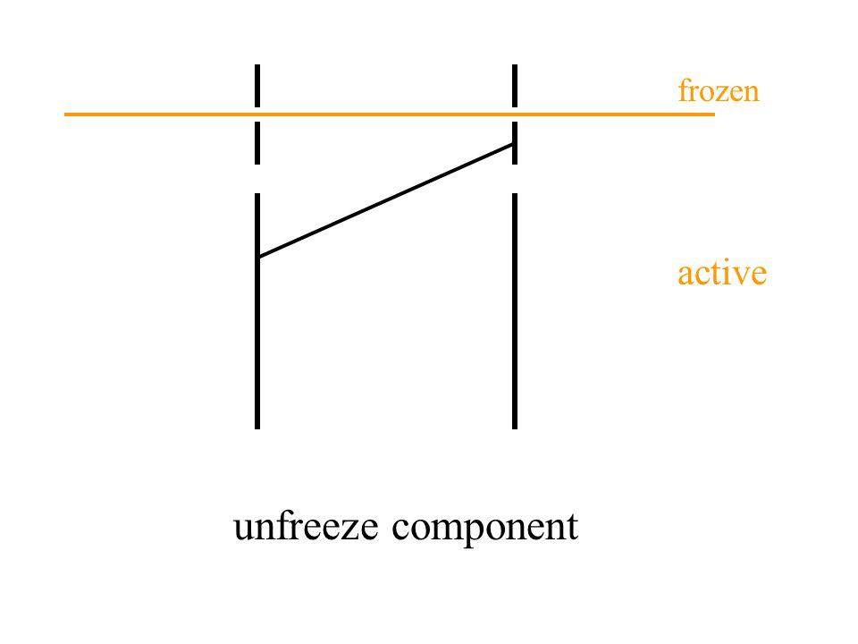 unfreeze component active frozen