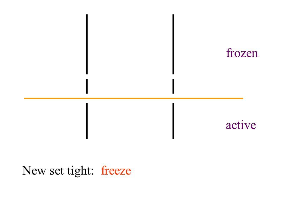 active frozen New set tight: freeze