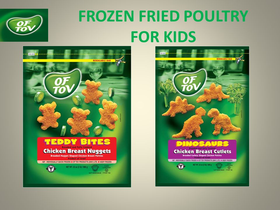 FROZEN FRIED POULTRY FOR KIDS