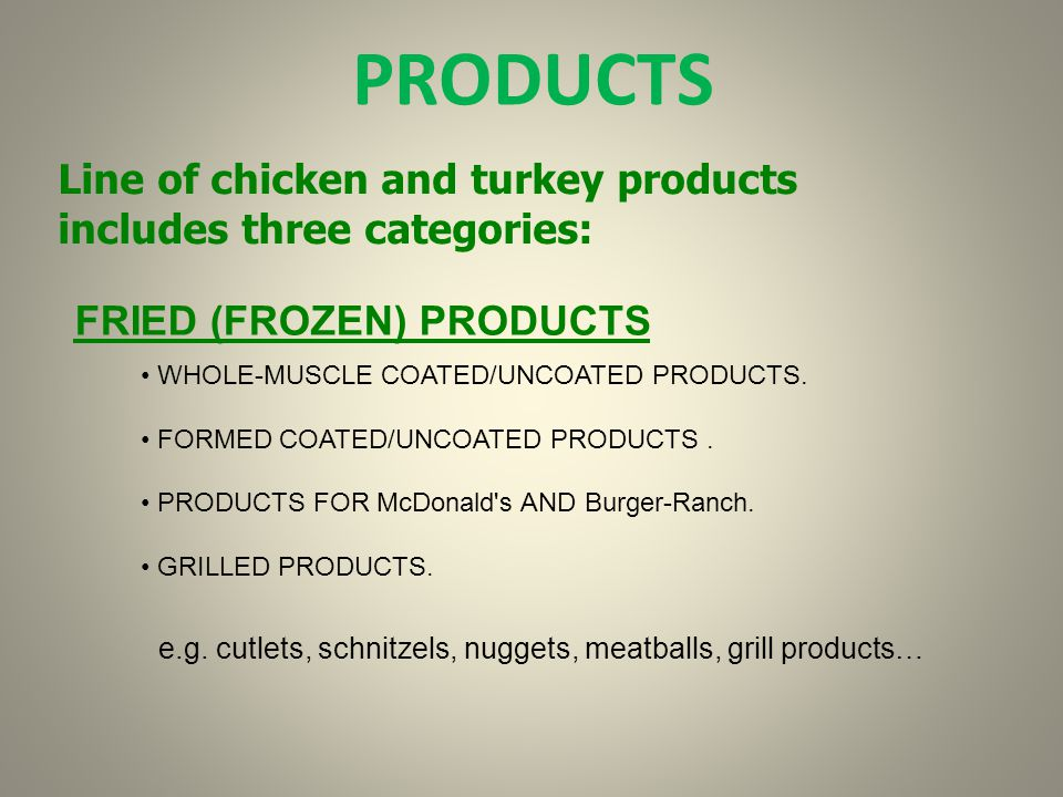 ALL NEW FROZEN POULTRY