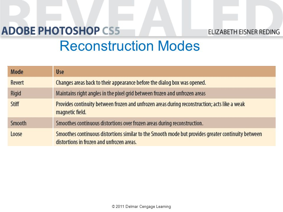 Reconstruction Modes © 2011 Delmar Cengage Learning