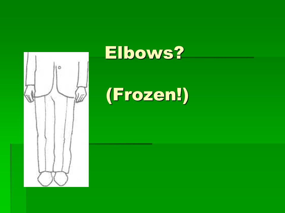 Elbows? (Frozen!)