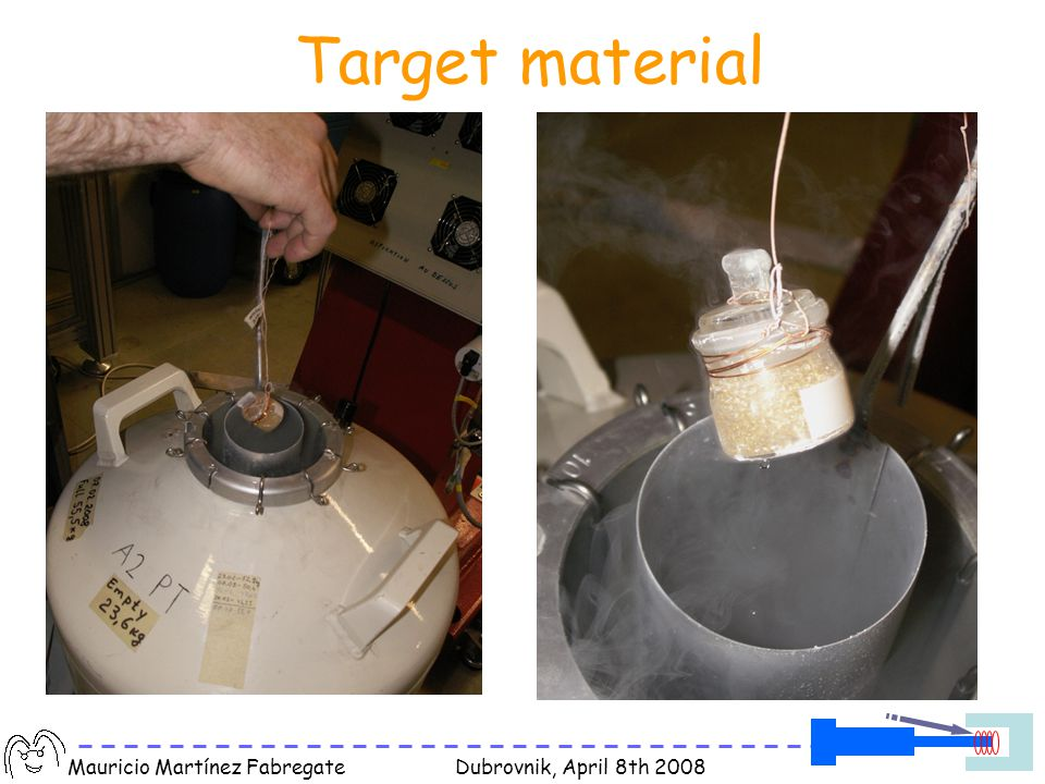 Mauricio Martínez Fabregate Dubrovnik, April 8th 2008 Target material