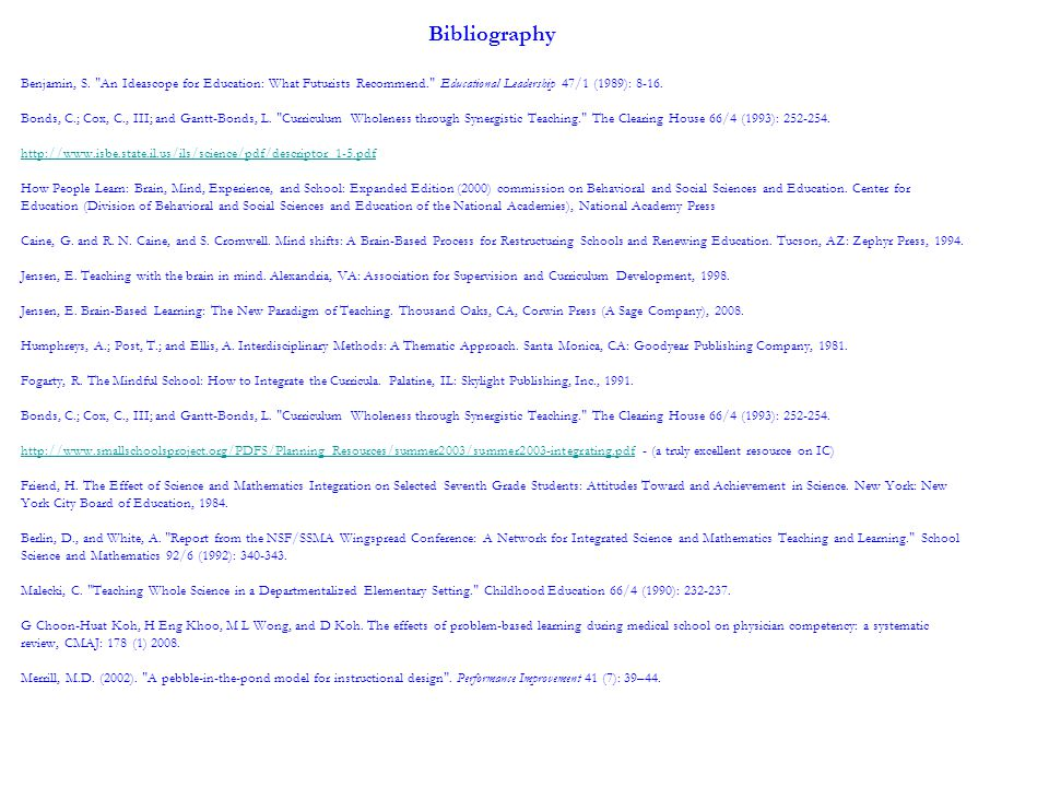 Bibliography Benjamin, S.
