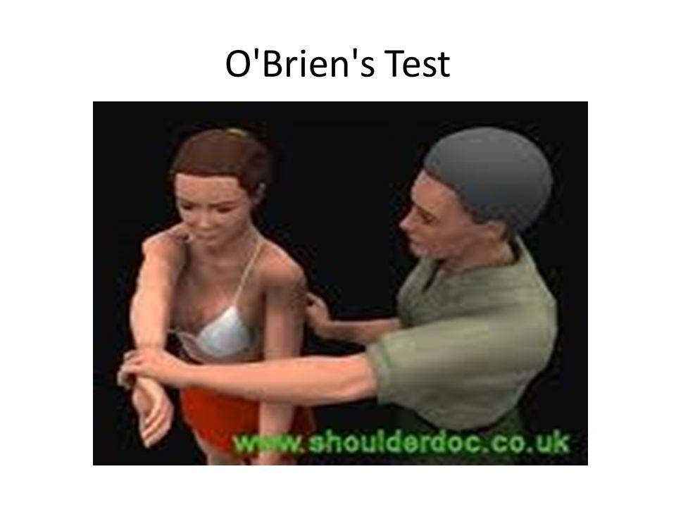 O'Brien's Test