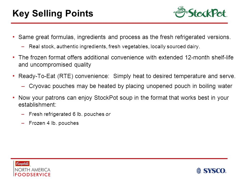 Key Selling Points Same great formulas, ingredients and process as the fresh refrigerated versions.