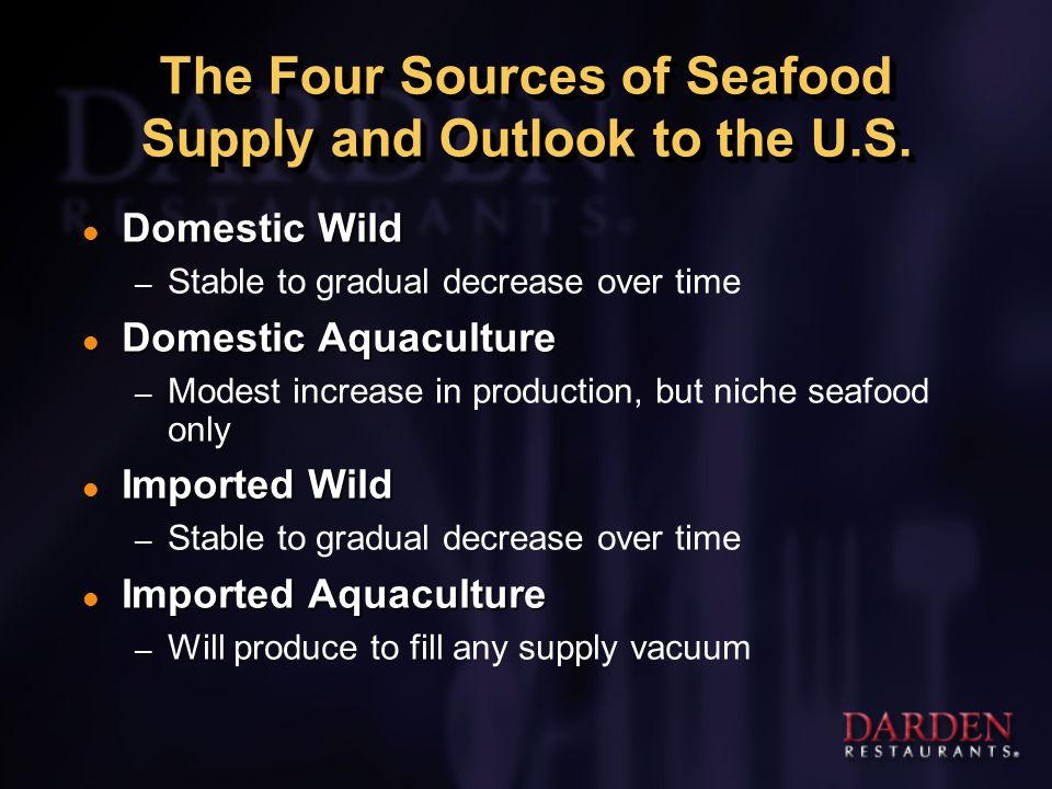 The Four Sources of Seafood Supply and Outlook to the U.S.