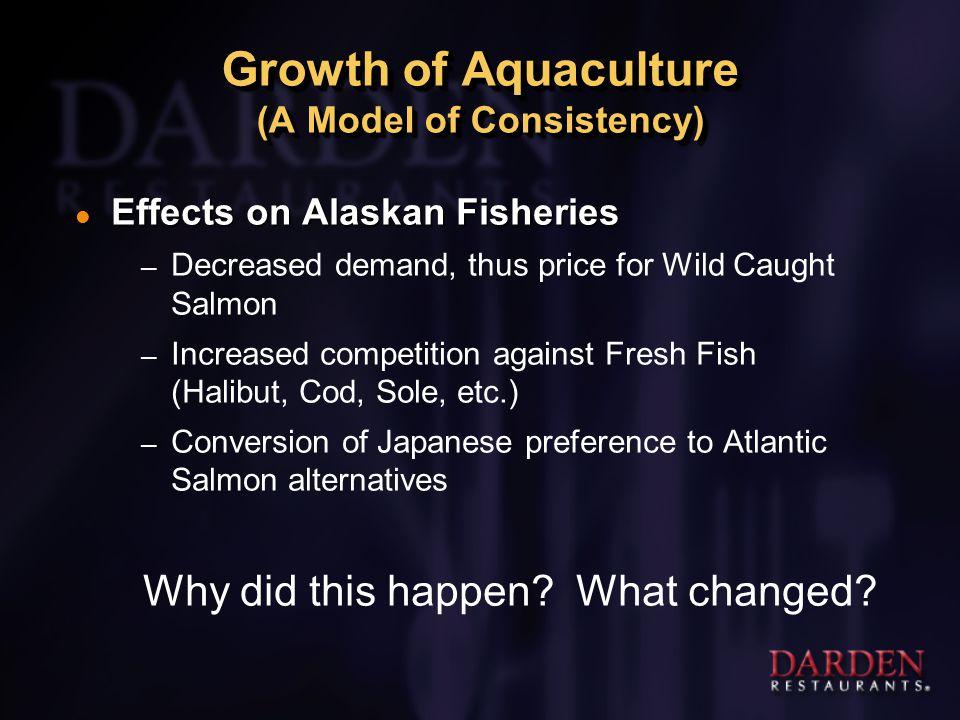 U.S. Per Capita Consumption of Seafood: 1980 – 2007E SOURCE: FAO, University of Southern Illinois