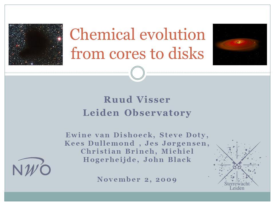 Ruud Visser Leiden Observatory Ewine van Dishoeck, Steve Doty, Kees Dullemond, Jes Jørgensen, Christian Brinch, Michiel Hogerheijde, John Black Novemb