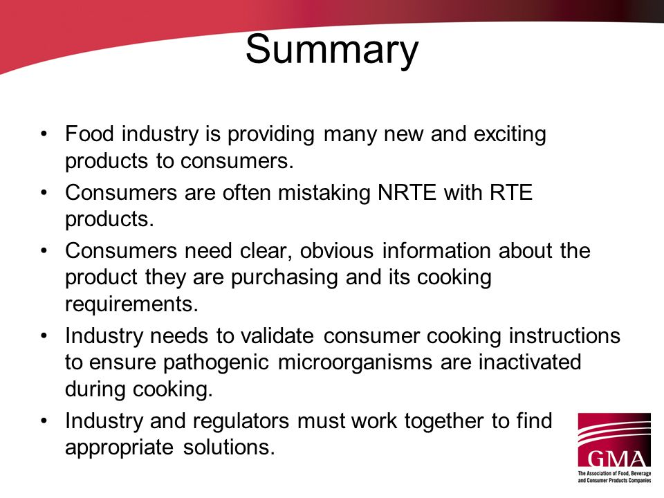 Summary Food industry is providing many new and exciting products to consumers.