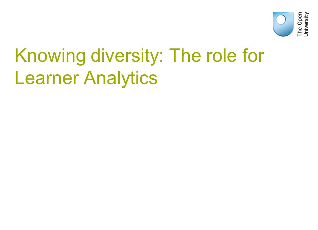 Knowing diversity: The role for Learner Analytics